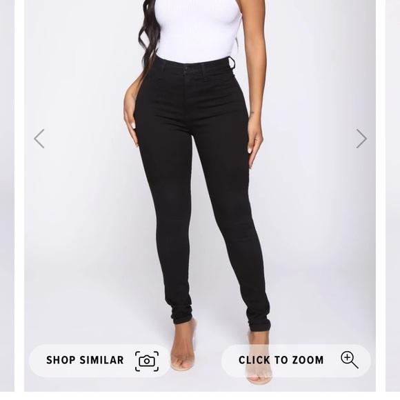 Fashion nova black high waisted skinny jean